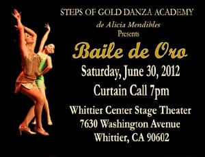 Steps of Gold Danza Academy,de Alicia Mendibles Presents Baile de Oro